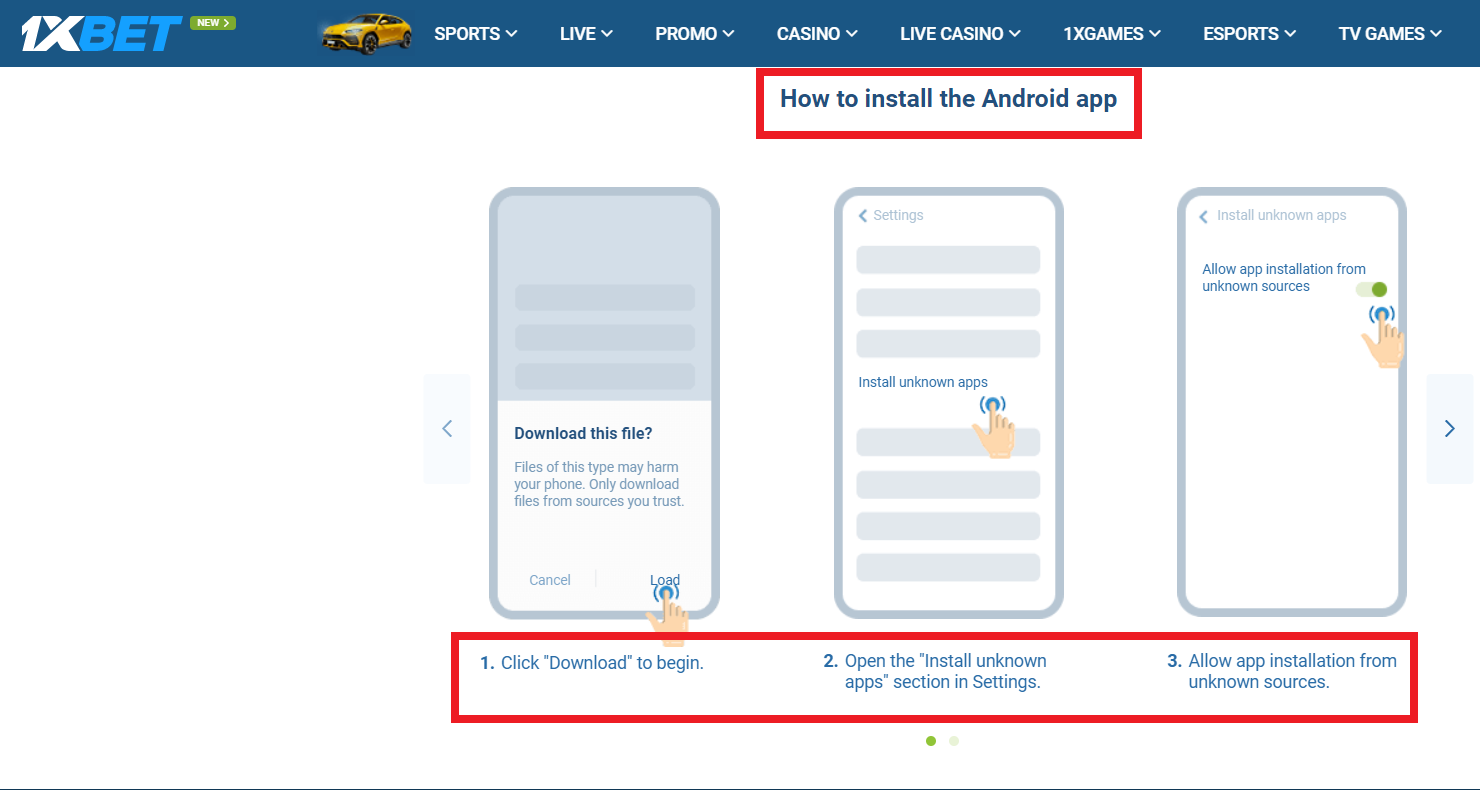 Learn How to Register in 1xbet